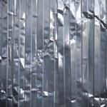 Corrugated metal rumpled sheet texture — Stock Photo