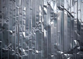 Corrugated metal rumpled sheet texture — Stock Photo