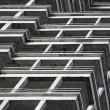 Abstract fragment of building under construction - Stockfoto