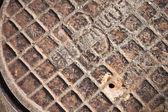 Old sewer manhole — Stock Photo