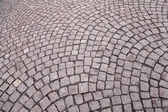 Background texture of cobblestone road — Stock Photo
