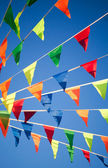 Colorful triangle flag banner — Stock Photo