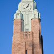 Clock tower of Helsinki central railway station — Stock Photo #9362783