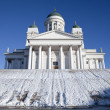 Helsinki cathedral, Finland. Winter state — Stock Photo