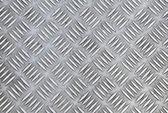Closeup texture of diamond metal plate — Stock Photo