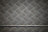 Diamond metal plate with joint — Stock Photo