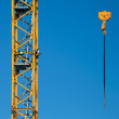 Tower crane fragment with hook — Stock Photo #9959271