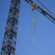 Tower crane fragment with hook — Stock Photo #9959274