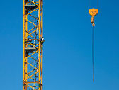 Tower crane fragment with hook — Stock Photo