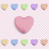 Pink candy heart — Stock Vector