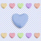 Blue candy heart — Stock Vector