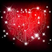 Quadro elettrico del cuore — Vettoriale Stock
