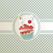 Carta di cupcake — Vettoriale Stock