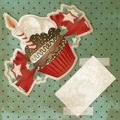 Sztuka urodziny ciastko — Wektor stockowy