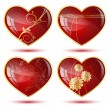 Stock Vector: Four hearts