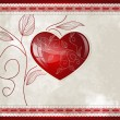 Heart and leafs — Vector de stock #8762806