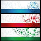 Electric board banners — Stock Vector