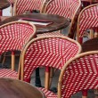 Restaurant terrace in Paris — Stock Photo #7981508
