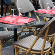 Restaurant terrace in Paris — Stock Photo #7981567