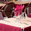 Restaurant terrace in Paris — Stock Photo