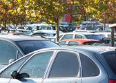 Supermarket car park — Stock Photo