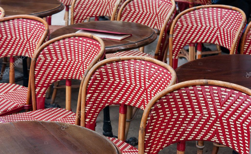 A typical French restaurant table on terrace  Stock Photo #7981508