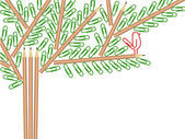 Office tree — Stock Vector