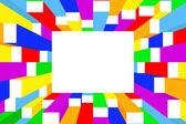 красочная рамка — Cтоковый вектор