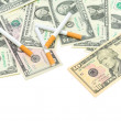 American money and cigarettes — Stock Photo