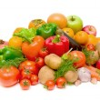 Still life of fresh fruits and vegetables — Stock Photo