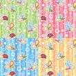 Royalty-Free Stock Immagine Vettoriale: Patterns with insects