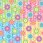Patterns with flowers — Stock Vector