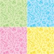 Royalty-Free Stock Vector Image: Seamless patterns with music symbols