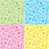 Art seamless patterns — Stock Vector