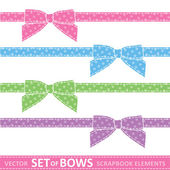 Set of bows — Stock Vector