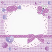 Violet frame — Stock Vector