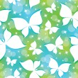 Pattern with butterflies — Stock Vector #10406053