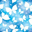 Pattern with butterflies — Imagen vectorial