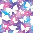 Stock Vector: Pattern with butterflies