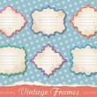 Set of vintage frames — Vector de stock