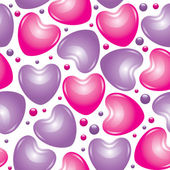 Glossy hearts — Stock Vector