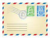 Christmas envelope — Stock Vector