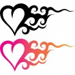 Tattoo heart — Stock Vector