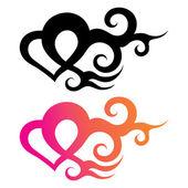 Tattoo heart — Stock Vector