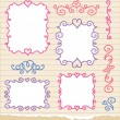 Set of hand drawn frames — Stock Vector #8187759