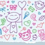 Valentine's day symbols — Vector de stock
