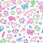 Romantic seamless pattern — Stock Vector