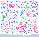 Valentine's day symbols — Stock Vector