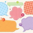 Set of speech bubbles — Imagen vectorial