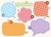 Konuşma balonları küme — Stok Vektör